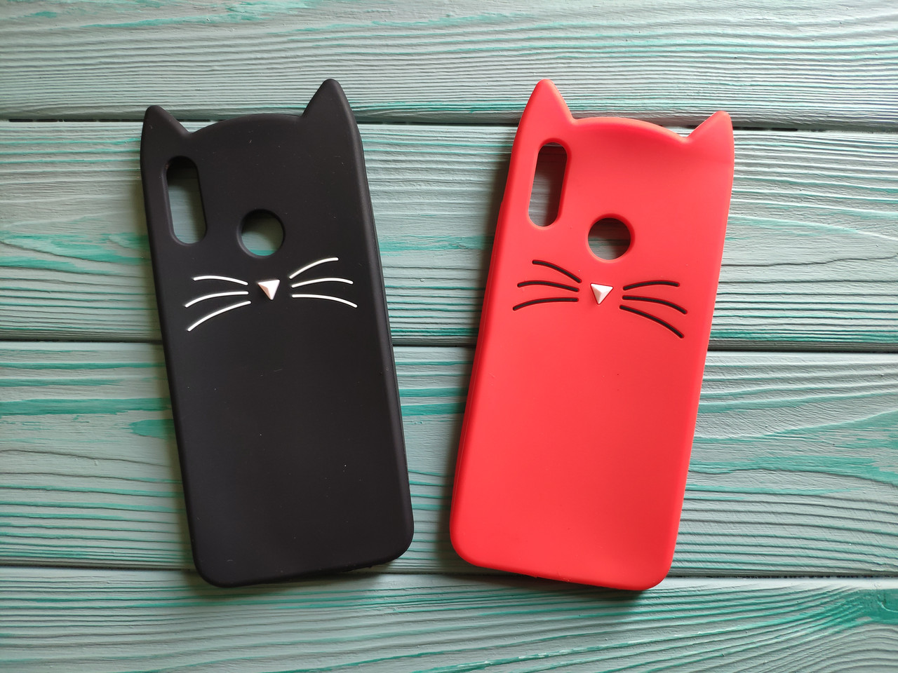 Чехол 3D Cat для Honor 10 lite Бампер Усики (2 цвета)