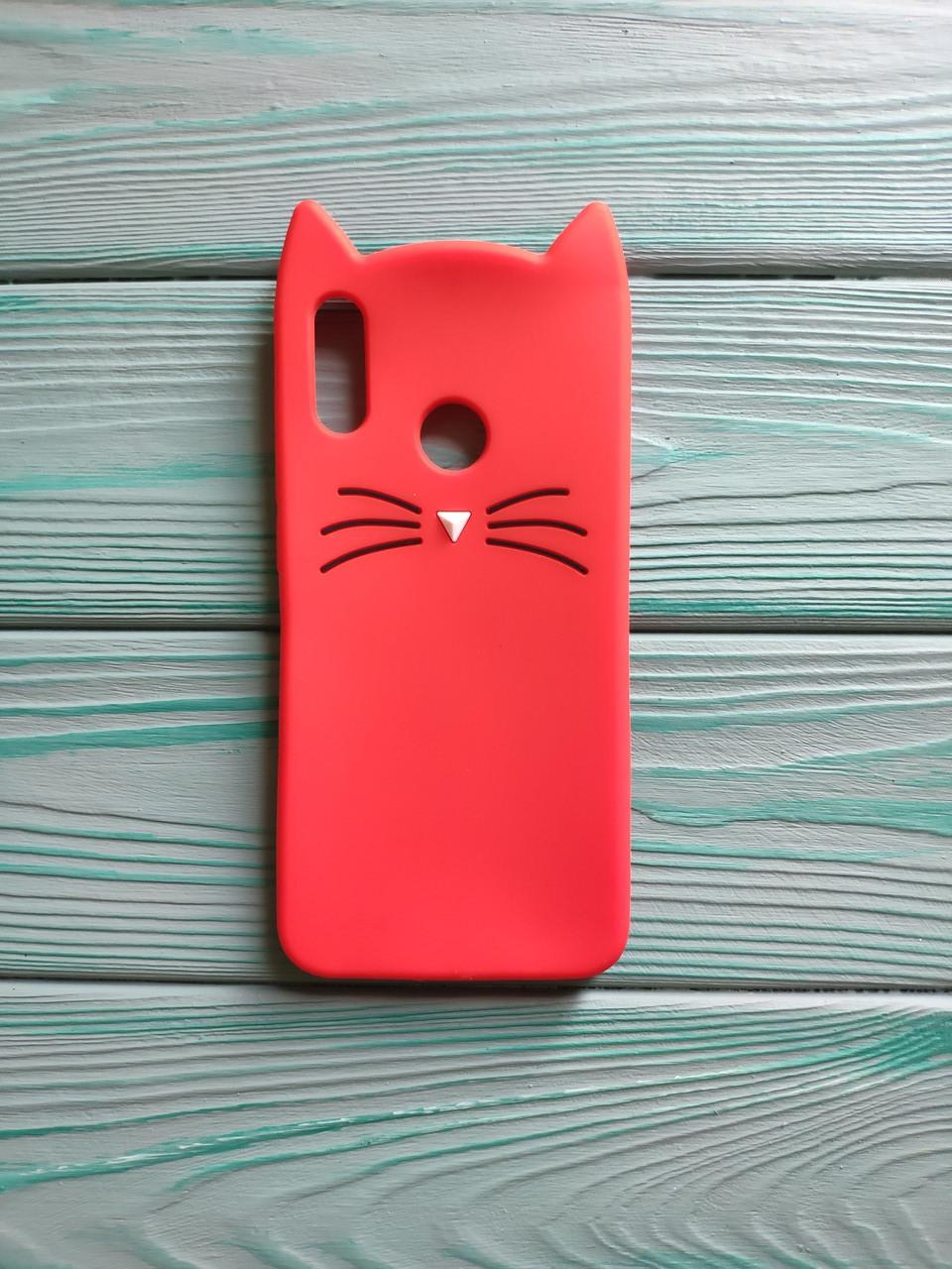 Чехол 3D Cat для Honor 10 lite Бампер Усики красный