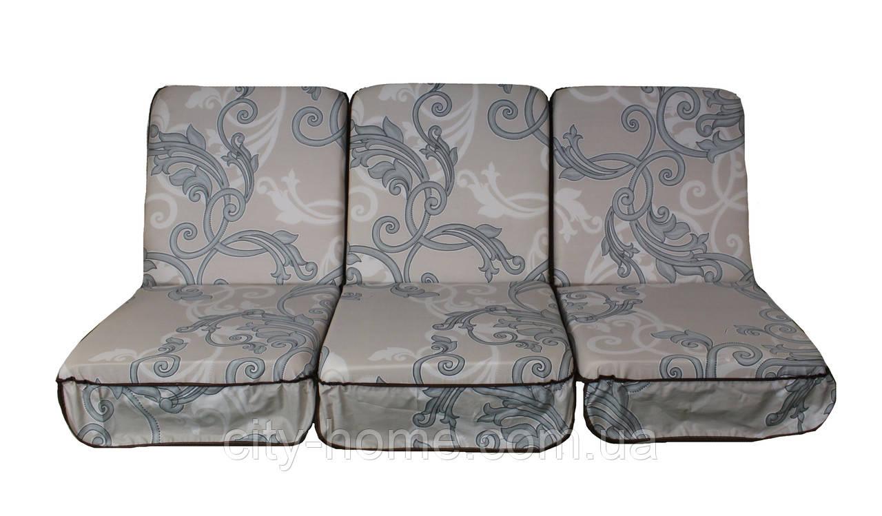Комплект поролонових подушок для садових гойдалки 168 см (062)