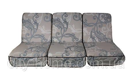 Комплект поролонових подушок для садових гойдалки 168 см (062), фото 2