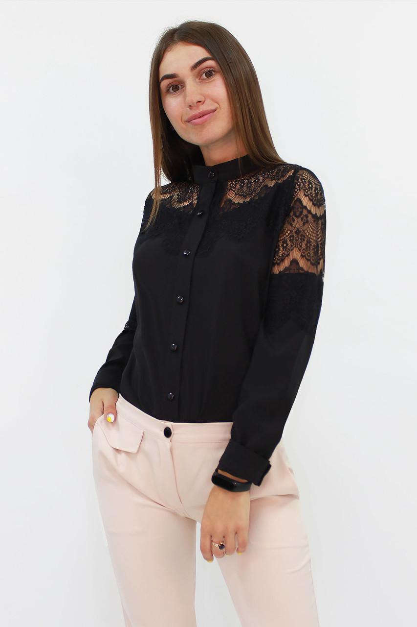 Романтична жіноча блузка з мереживом Gilmor, чорний