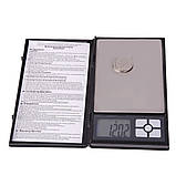 Карманные ювелирные электронные весы в виде книжки 0,01-500 гр, фото 3