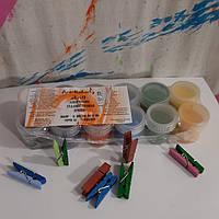 Художественная декоративная акриловая краска  Набор 12 глянцевых цветов по 10 мл.