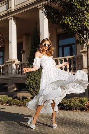 Летнее воздушное платье со съемными рукавами, фото 2