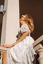 Летнее воздушное платье со съемными рукавами, фото 3