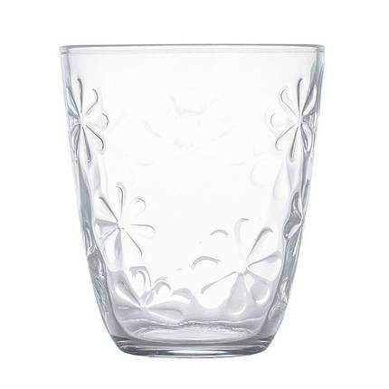 Набор низких стаканов с фактурными цветами Luminarc Neo flower 310 мл 6 шт (N0336), фото 2