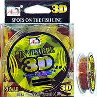 Леска Invisible 3D Line 50 м (0.16/ 0.18/ 0.20/ 0.22/ 0.25 мм)