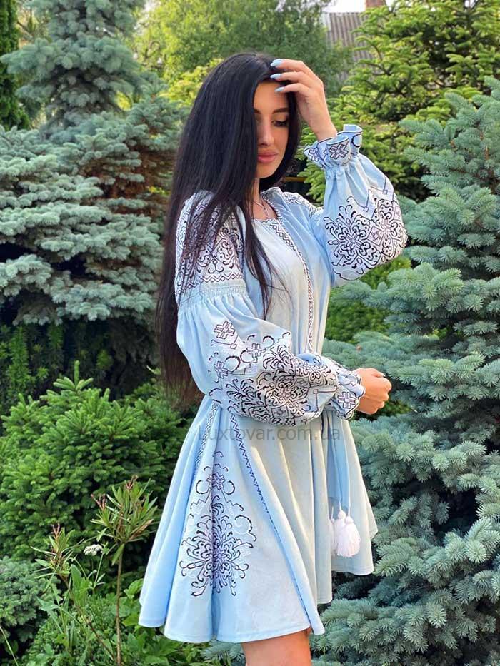 Вишита сукня в стилі бохо Ніжність