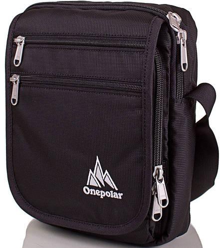 Черная мужская спортивная сумка ONEPOLAR (ВАНПОЛАР), W5633-black