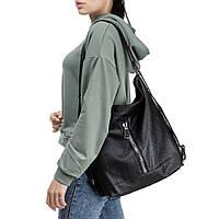Женская сумка-рюкзак B-R-N черная (Турция)