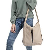 Женская сумка-рюкзак B-R-N бежевая (Турция)