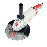 Шлифмашина угловая 2000 Вт, 6500 об/мин, диаметр круга 230 мм, плавный пуск, поворотная рукоятка INTERTOOL DT-