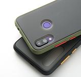Чехол бампер soft-touch для Xiaomi Redmi Note 8 Pro Цвет чехла зелёный, кнопки оранжевые, фото 2