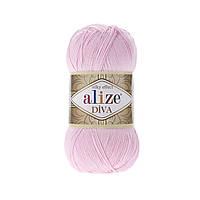 Пряжа Alize Diva , цвет 185 детский розовый