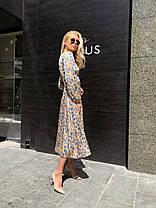 Эффектное шелковое платье миди, фото 3