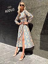 Эффектное шелковое платье миди, фото 2