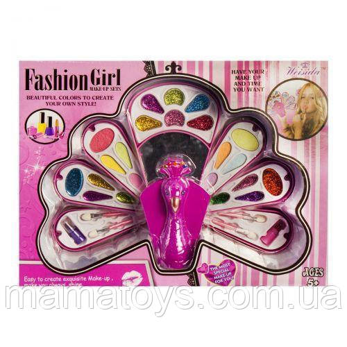 Набор Детской косметики  V82861BПавлин - Жар птица 7 ярусов, тени, помада, блеск, кисточки,