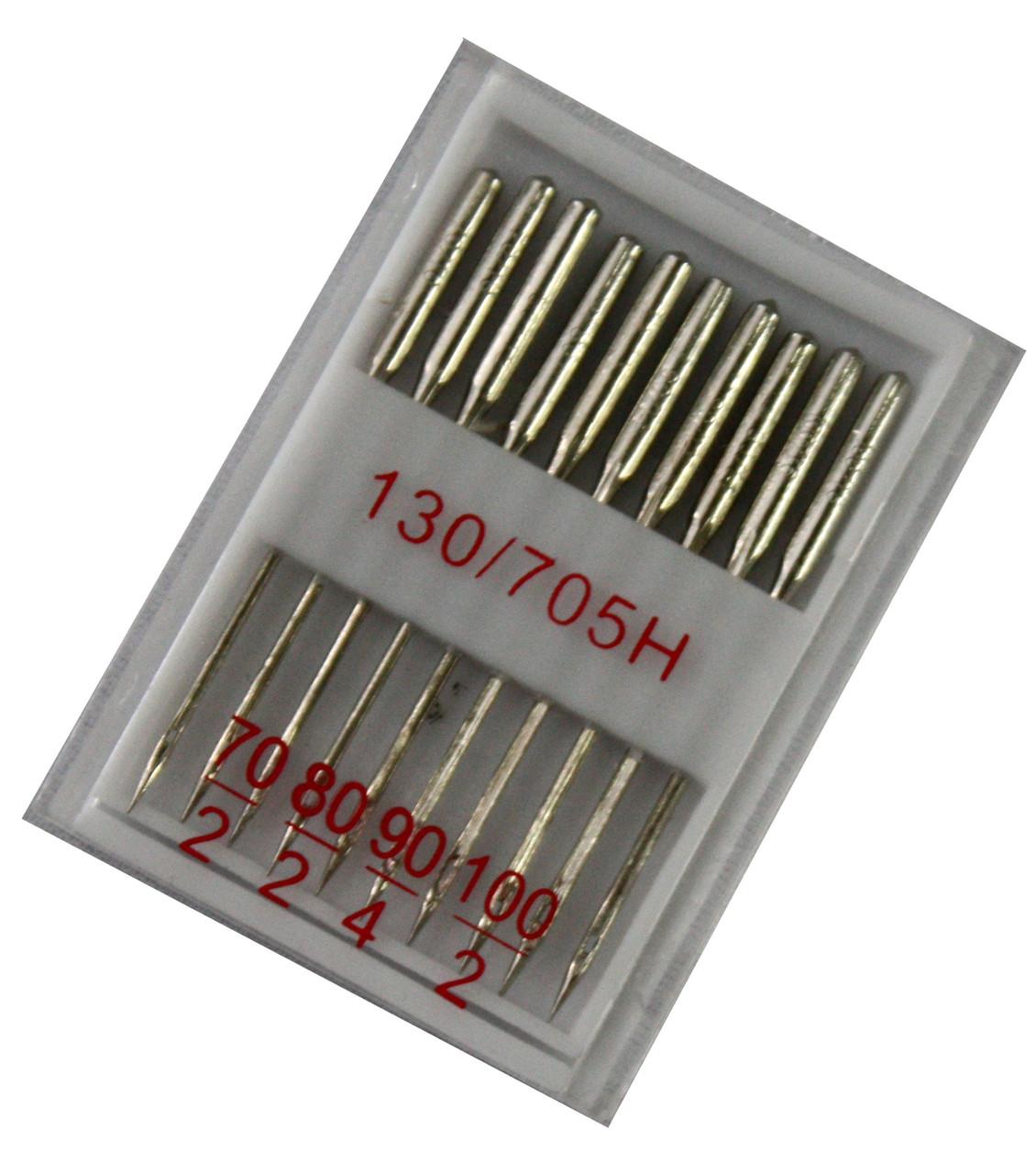 """Иглы швейные """"Китай"""" (№70 №80 №90 №100) для бытовых швейных машин"""