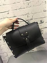 Стильная женская кожаная сумка Черный