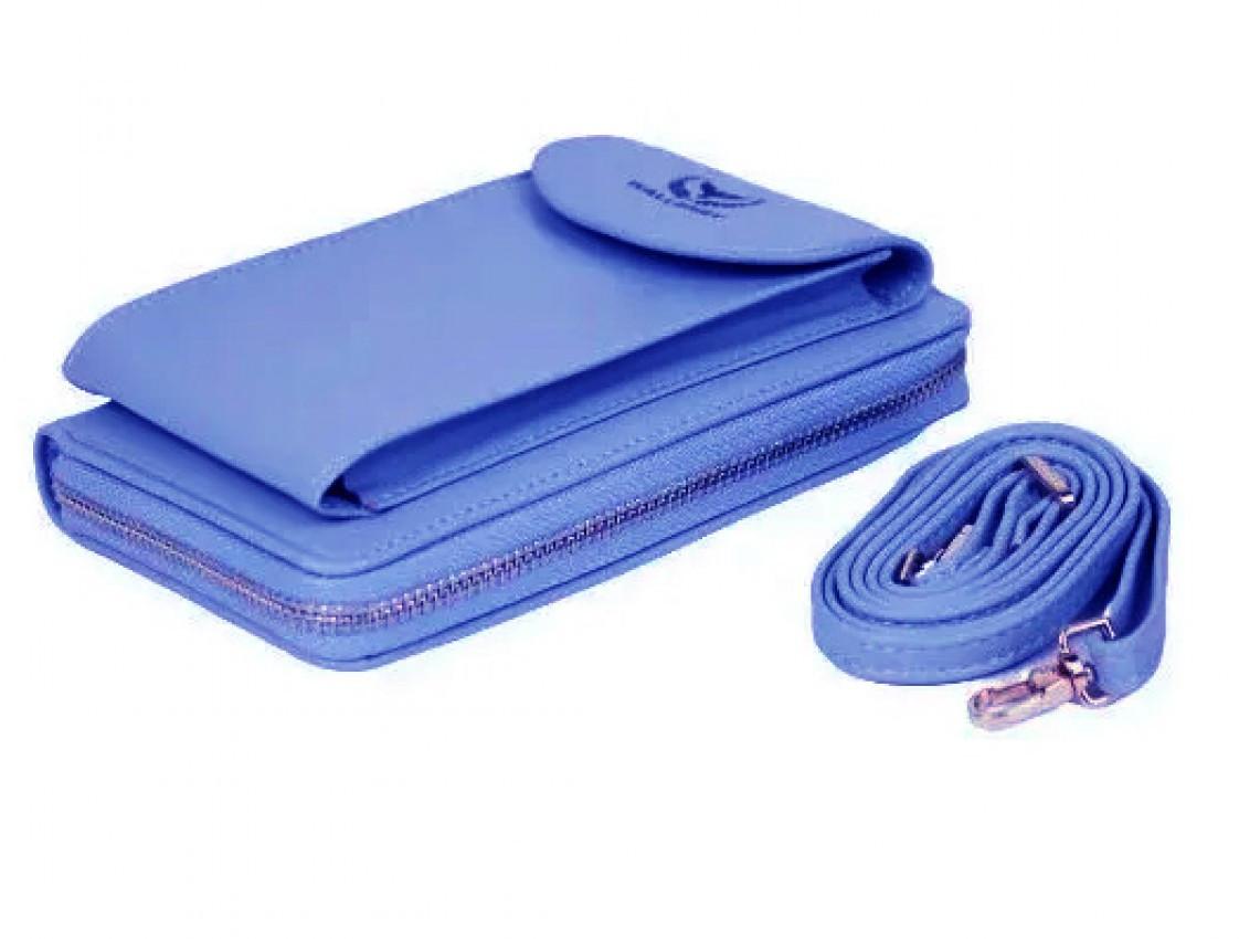 Женский кошелек Wallerry ZL8591 - сумка-клатч из экокожи