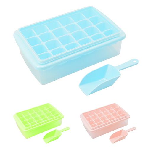 Форма для льда с контейнером и лопаткой 27*17*8см R84608 (60шт)