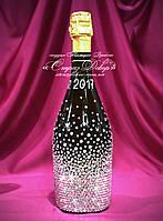 Свадебное шампанское в стразах (уточняйте сроки) Ш16