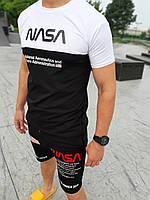 """Мужской летний комплект шорты и футболка """" NASA """" Разные цвета"""