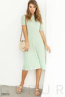Вязаное платье с ажурной кокеткой