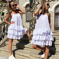 Платье летнее на брительках стильное размеры  42 44 46 Новинка 2020 есть цвета
