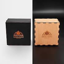 Камни для виски. Подарок мужу. Камни для виски подарочный деревянный набор с бокалом Bohemia, фото 2