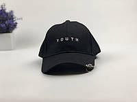 Кепка бейсболка Youth (черная) с кольцами