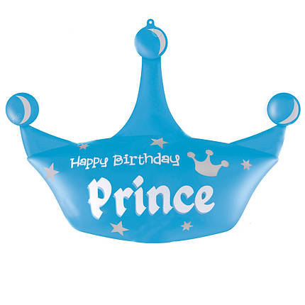 Фол шар фигура ХБ Корона голубая Happy Birthday Prince (Китай), фото 2