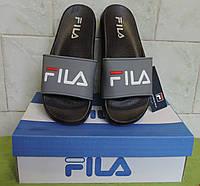 Шлепанцы мужские Fila, сланцы, пляжные шлепки flip-flop. Серая