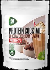 Коктейль белковый с L-карнитином и гуараной ФитПарад Fit Active Шоколадный Пломбир (300 грамм)