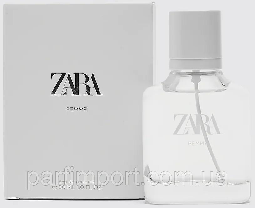 ZARA Femme EDT 30 ml  туалетная вода женская (оригинал подлинник  Испания)