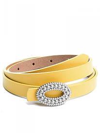 Ремень женский кожаный Case 9985 желтый