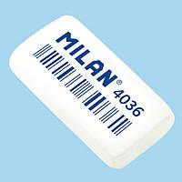 Ластик Milan 4036CCM бiлий прямокутний 39х20х8мм каучук