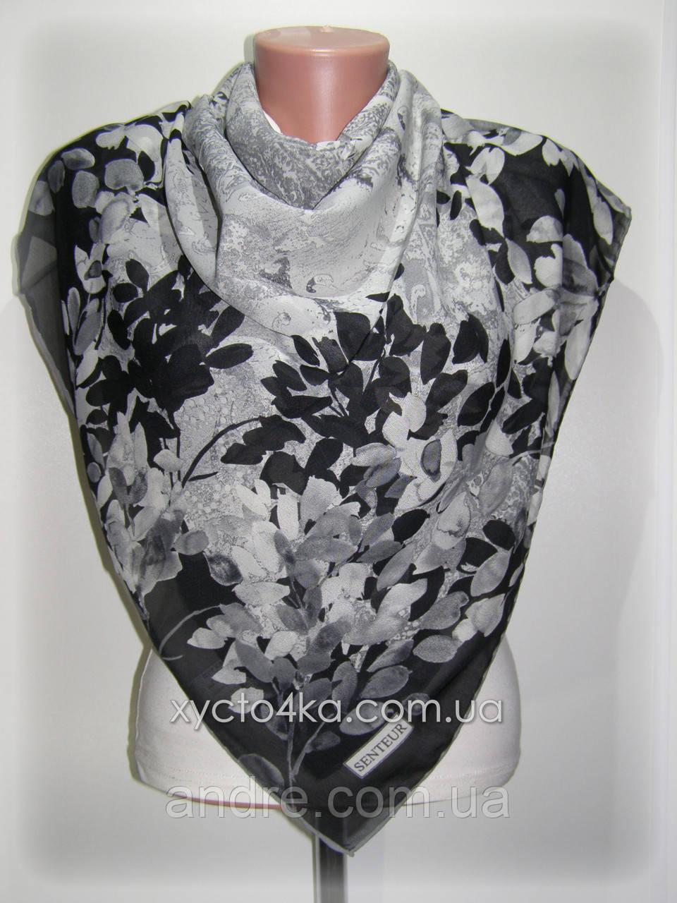 Лёгкие шифоновые платки Воздушный, серый