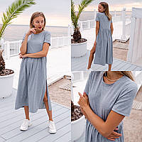 Платье рубашка женское чёрное, серое, хаки, 42-44, 46-48
