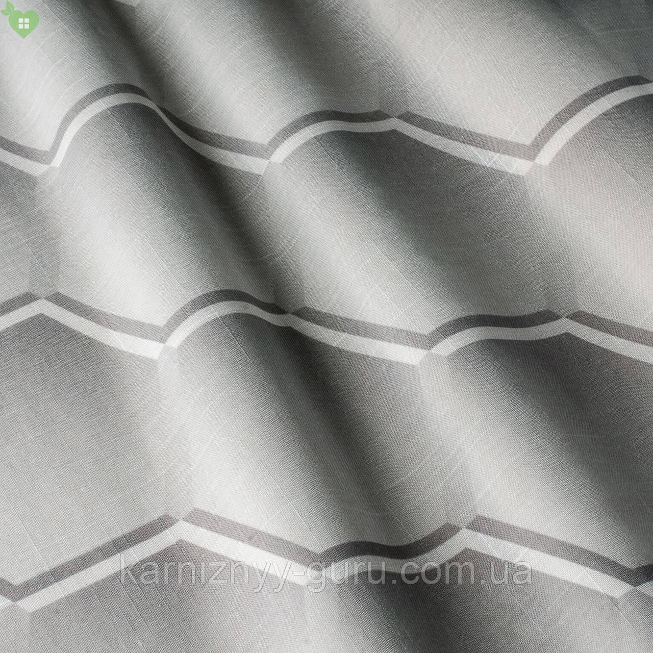 Тюль соты градиент от белого к серому Испания 82912v1