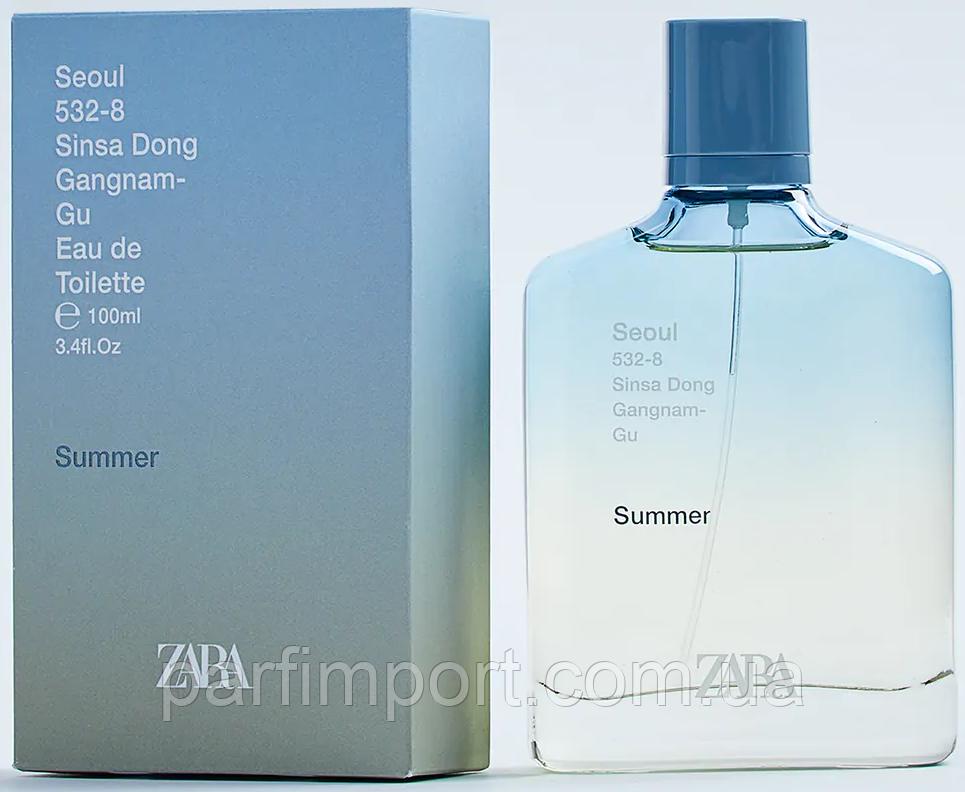 ZARA Seoul Summer  EDT 100 ml   (оригинал подлинник  Испания)
