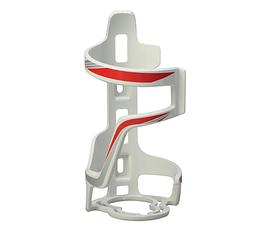Флягодержатель с горизонтальной боковой загрузкой и фиксацией горлышка из пластика SOUL TRAVEL ST-B06 БЕЛЫЙ+КРАСНЫЙ