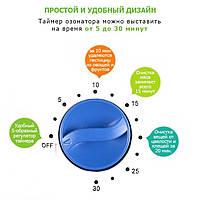 Бюджетний озонатор для дезінфекції в будинку/офісі Ozotop-101. Стерилізатор повітря, води, поверхонь, фото 7