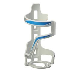 Флягодержатель с горизонтальной боковой загрузкой и фиксацией горлышка из пластика SOUL TRAVEL ST-B06 БЕЛЫЙ+СИНИЙ