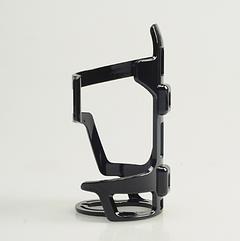 Флягодержатель с горизонтальной боковой загрузкой и фиксацией горлышка из пластика SOUL TRAVEL ST-B06 ЧЁРНЫЙ