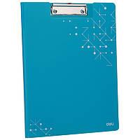 Планшет-папка Deli EF75732 блакитн A4 пластик 1.5мм pp Aurora