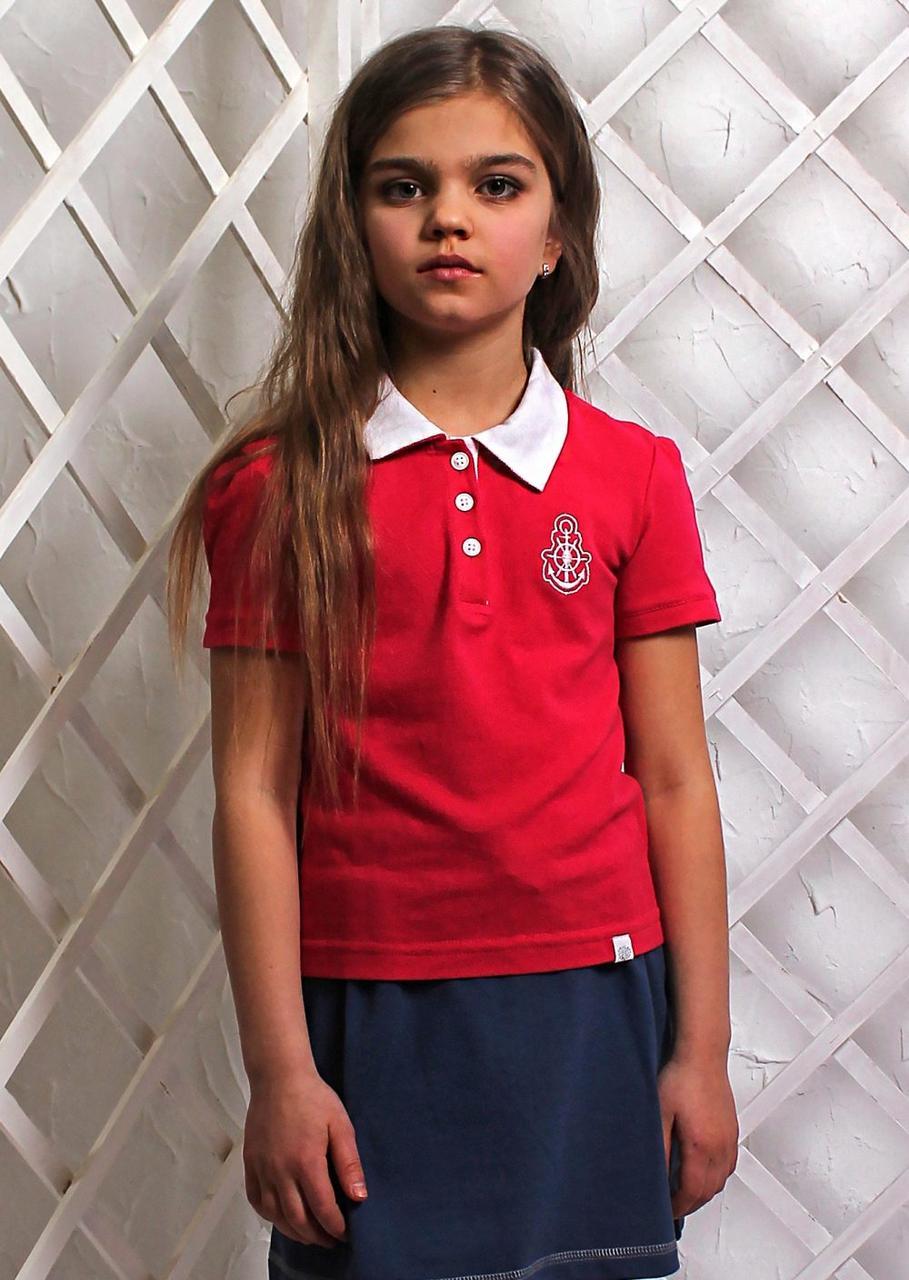 Футболка-поло в школу для девочки
