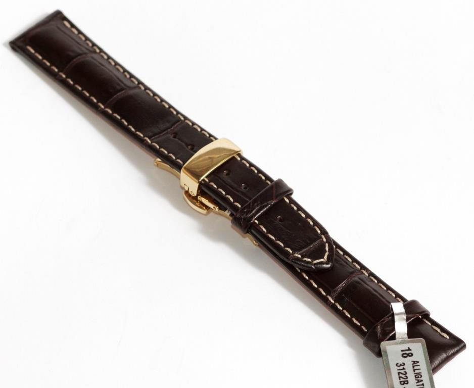Ремінець шкіряний Stailer 18 мм, коричневий Кліпса