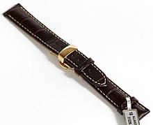 Ремешок кожаный Stailer 18 мм, коричневый Клипса