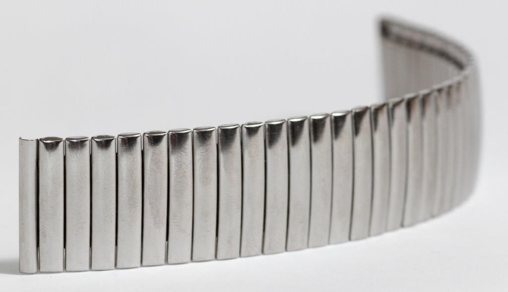 Браслет-резинка серебро 22 мм